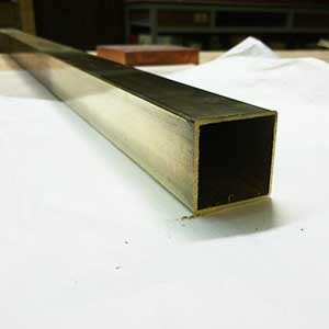 George White Brass Square Tube